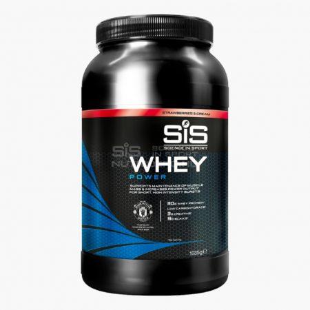 SiS Whey Power Tejsavó protein por - 1.035kg - Eper & Tejszín