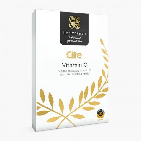 Healthspan Elite C-vitamin (500mg) rágótabletta - 120db - Ízesítetlen