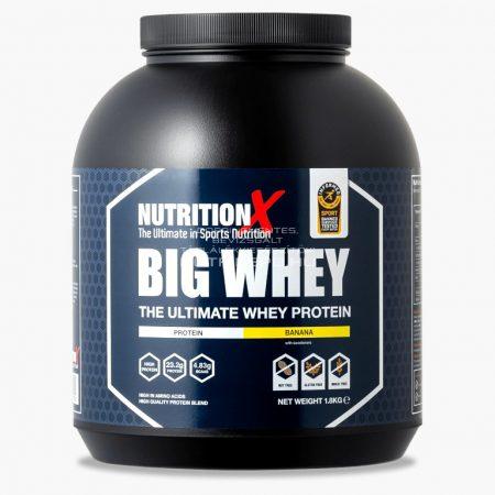 Nutrition X Big Whey tejsavófehérje italpor - 1.8kg - Banán