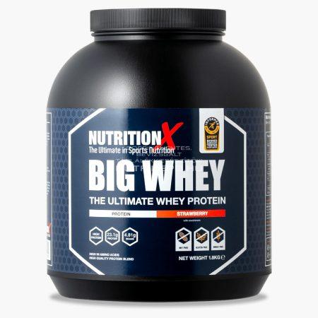 Nutrition X Big Whey tejsavófehérje italpor - 1.8kg - Eper