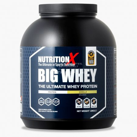 Nutrition X Big Whey tejsavófehérje italpor - 1.8kg - Vanília