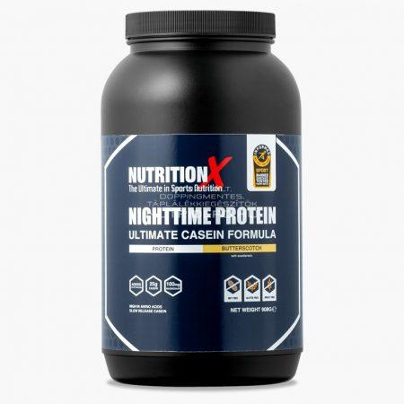 Nutrition X Éjszakai fehérje italpor - 908g - Vajkaramella