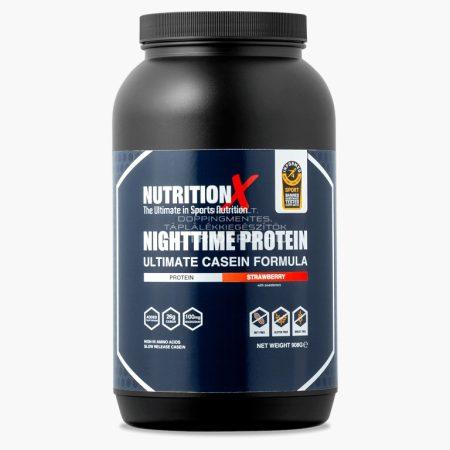 Nutrition X Éjszakai fehérje italpor - 908g - Eper