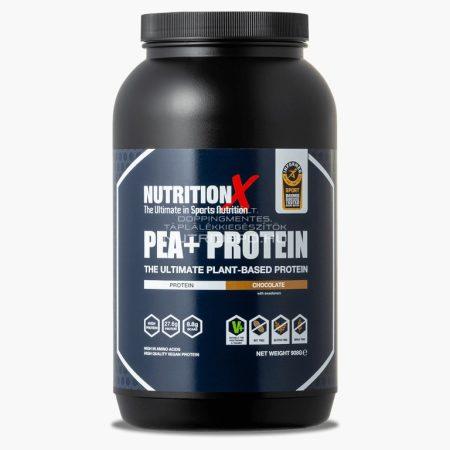Nutrition X Pea+ vegán fehérje italpor - 908g - Csokoládé