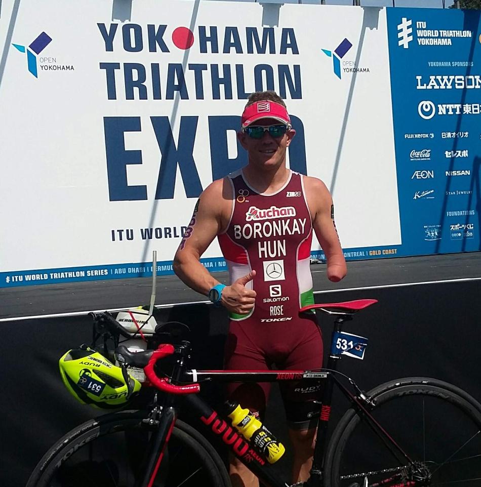 Boronkay Péter a World Triathlon Series jokohamai versenyén hatodik lett
