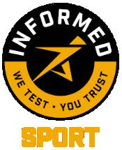 Informed-Sport logo, a biztonságos, doppingmentes termékek záloga